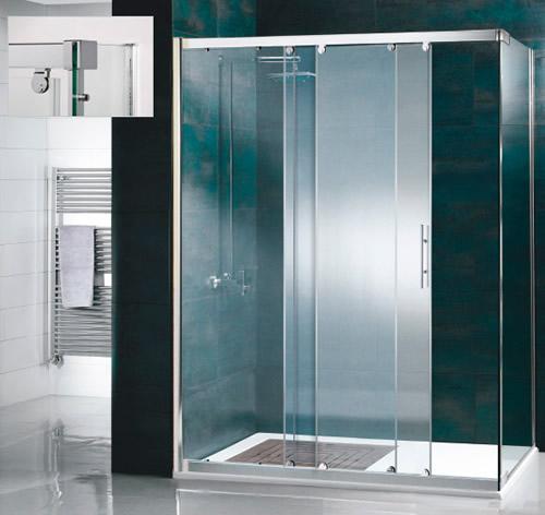 Mamparas de ducha corredera cristal atlanta aluminios - Mamparas de cristal para ducha ...