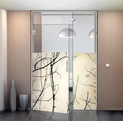 Puertas de paso de cristal abatibles bisagra aluminios - Puerta cristal abatible ...