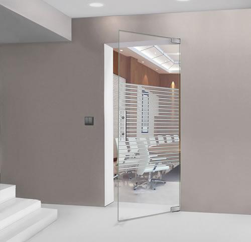 Puertas de paso de cristal abatibles bisagra hidraulica - Puerta de cristal abatible ...