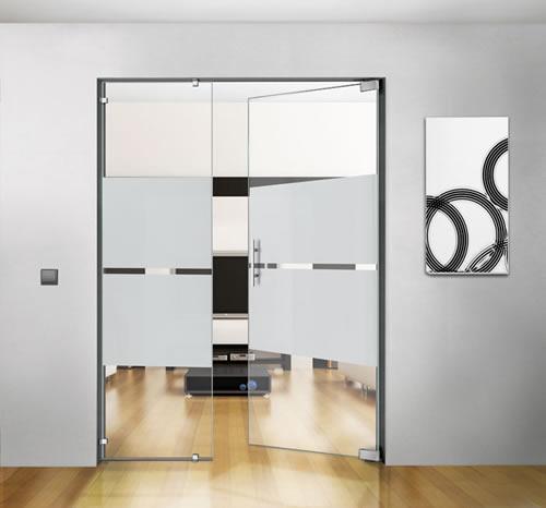 puertas de paso de cristal abatibles bisagra hidraulica